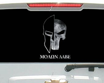 Molon Labe Tactical Skull Helmet Smoked Out
