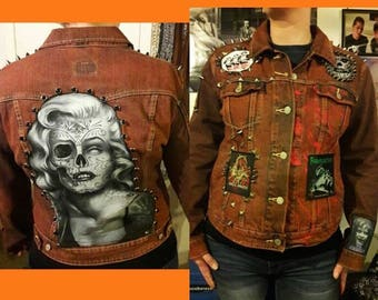 Burnt Orange Marilyn Halloween jacket  Levis size L