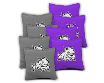TCU Horned Frogs Cornhole Bags - Set of 8