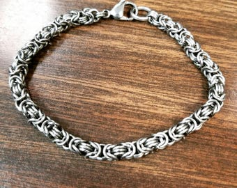 Stainless steel Byzantine Bracelet-made to order