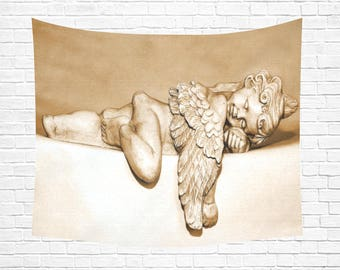 "Sleeping Angel Wall Tapestry 60""x 51"" (4 colors)"