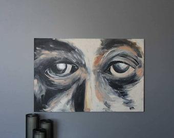 "All Eyes 24""x36"" Original Acrylic Painting"