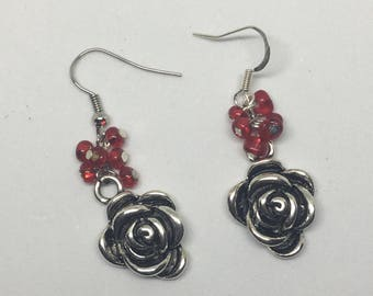 Rose Cluster Earrings