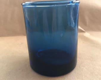 Beautiful Cobalt Blue Glass. Looks Hand Blown.