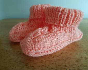 Baby knitted boots.