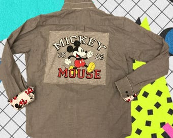 Mickey & Minnie Mouse Button Down Shirt