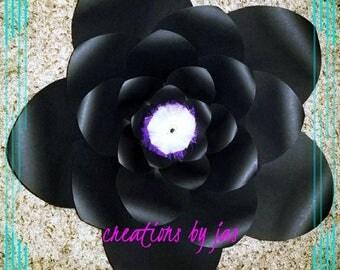 Large Black Paper Flower