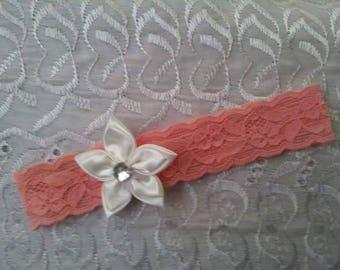 Babies apricot lace headband