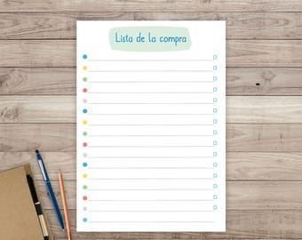 Printable shopping list. Shopping list to print. Planner, organizer, agenda