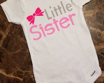 Little Sister and Big Sister Short Sleeve Body Suit