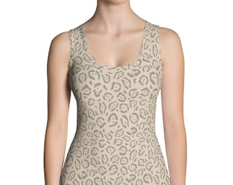 Animal Skin-Sublimation Cut & Sew Tank Top, USA, Printful