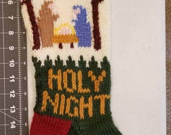Christmas Crib Scene Stocking