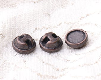 buttons two-way arrow buttons 10pcs 9*4mm one hole button round metal zinc alloy buttons copper buttons