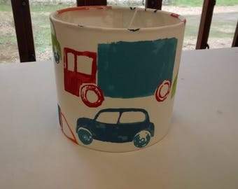 Kids Cars Drum Lampshade