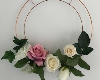 Bridesmaid Wedding Flower Floral Hoop, Alternative Bouquet, Wreath, Wedding Decor,