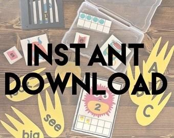 Monster Preschool Pack Instand Download