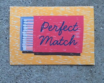 Perfect Match Greetings Card