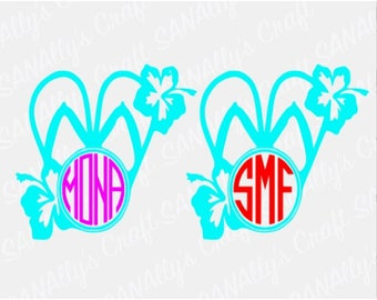 FLIP FLOP with MONOGRAM decal;)