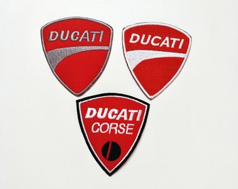 Ducati Motorcycle Embroidered Iron On Patch Racing Sport Motor 3Pcs