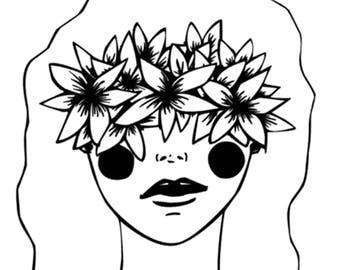 First Flower Child Print