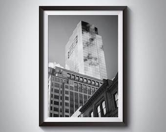 City Skyline Photography - Boston Financial District Skyline