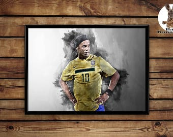 Ronaldinho print wall art home decor poster