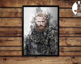 Tormund Giantsbane print wall art home decor poster
