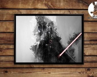 Darth Vader print wall art home decor poster
