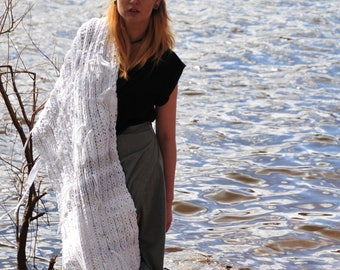 Recycled jersey Knitted scarf