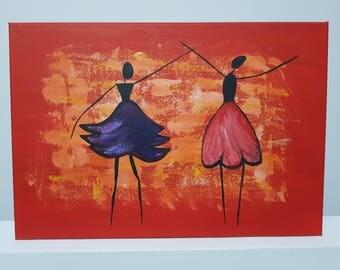 Dancing ladies painting