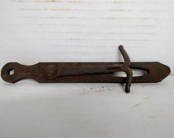 "Antique Vintage Barn Door Latch Iron 8"" Primitive"