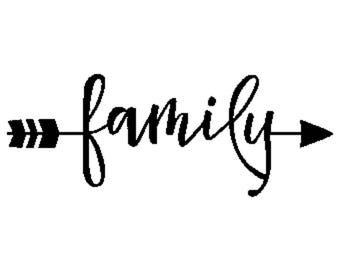 Family arrow vinyl decal