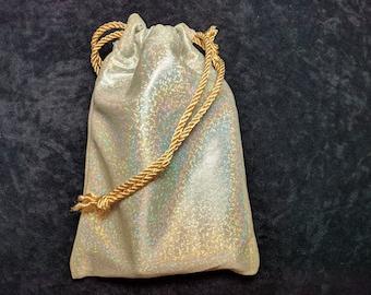 Holographic, Tarot Bag, Drawstring Bag, Dice Bag, Gemstone Bag, Bag of Holding