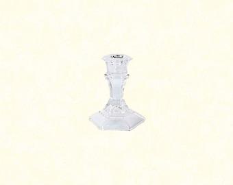 """Glass Taper Candleholder, 4"""""""