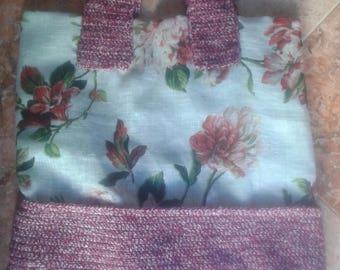 Crochet handbag Crochet floral fabric spring handmade