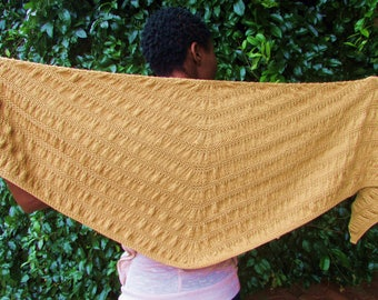 Knit Ruched Shawl - Evening Shawl Made From 100% Merino Wool - Winter Shawl For Women
