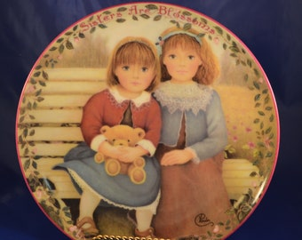 Sisters Are Blossoms Bradford Exchange Collector Plate