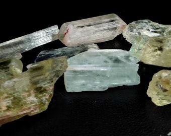 560.65 Unheated & Natural Multi Color Kunzite Rough Stone