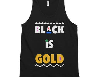 Black is Gold Classic tank top (unisex)