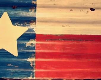 Texas Tin Flag