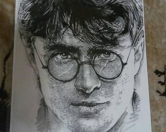 Harry Potter Print, 14 x 18