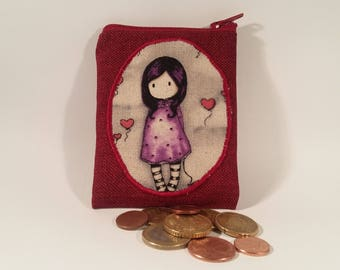 Wallet red girl scoundrel hearts