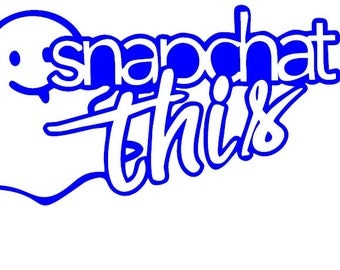 Snapchat This Vinyl Decal