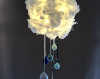 Rain cloud lamp shade