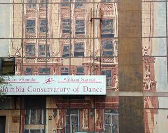digital download, mural, dance, ballet, jazz, tap, studio, downtown, cityscape, Columbia, South Carolina, home decor