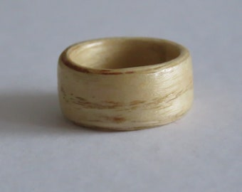 Bentwood Ring, wooden ring, Ash,ring size, Q