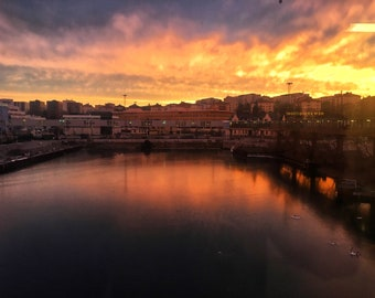 The sunset in Stockholm