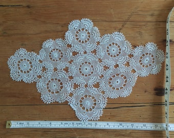 Complete set, handmade Turkish lace doilies / placemats / coasters / tablemats / table decor / table settings / wedding decor