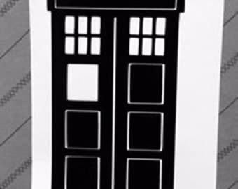Doctor Who Tardis Car Decal Sticker