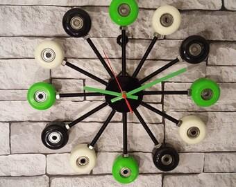 Unique Skateboard Wheel Clock